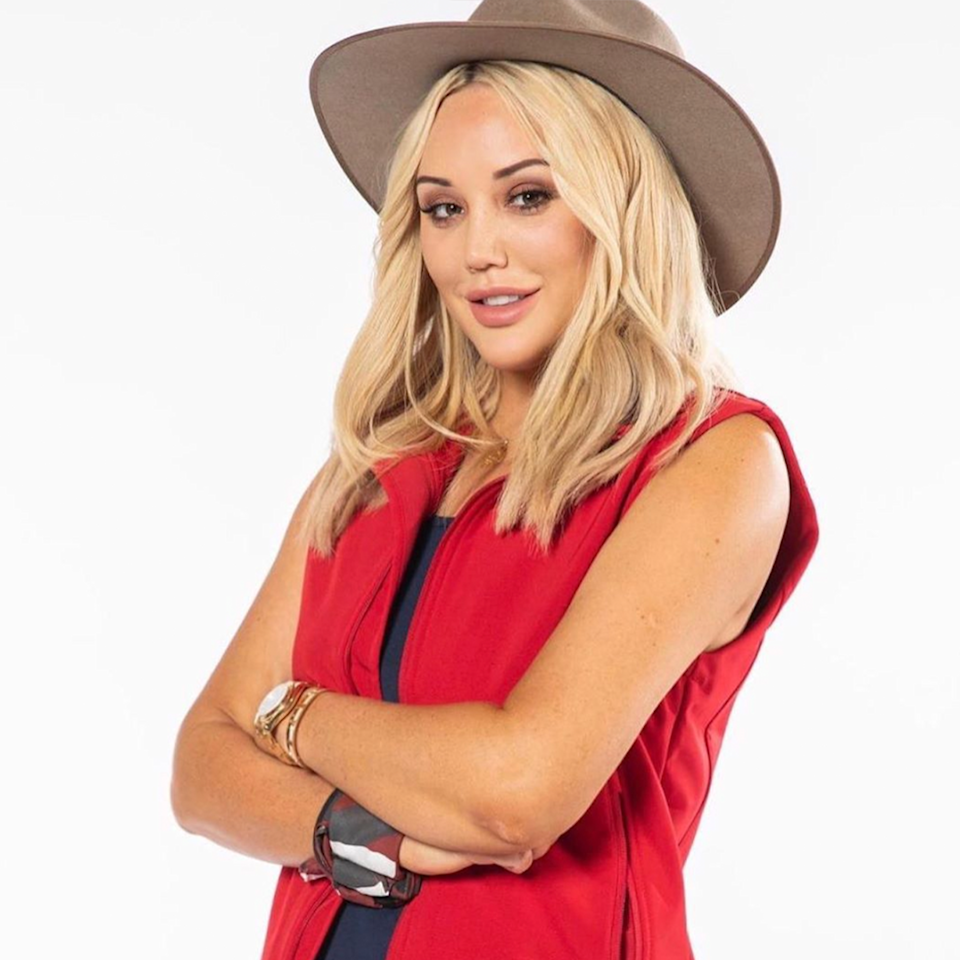 Charlotte Crosby on I'm A Celebrity... in 2020.