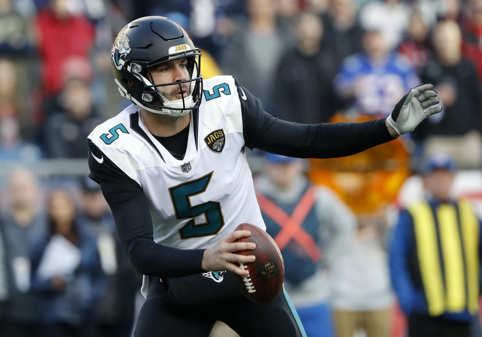The Jaguars somehow made it to the AFC championship game with this man at the controls of the offense. (AP Photo/Winslow Townson, File)