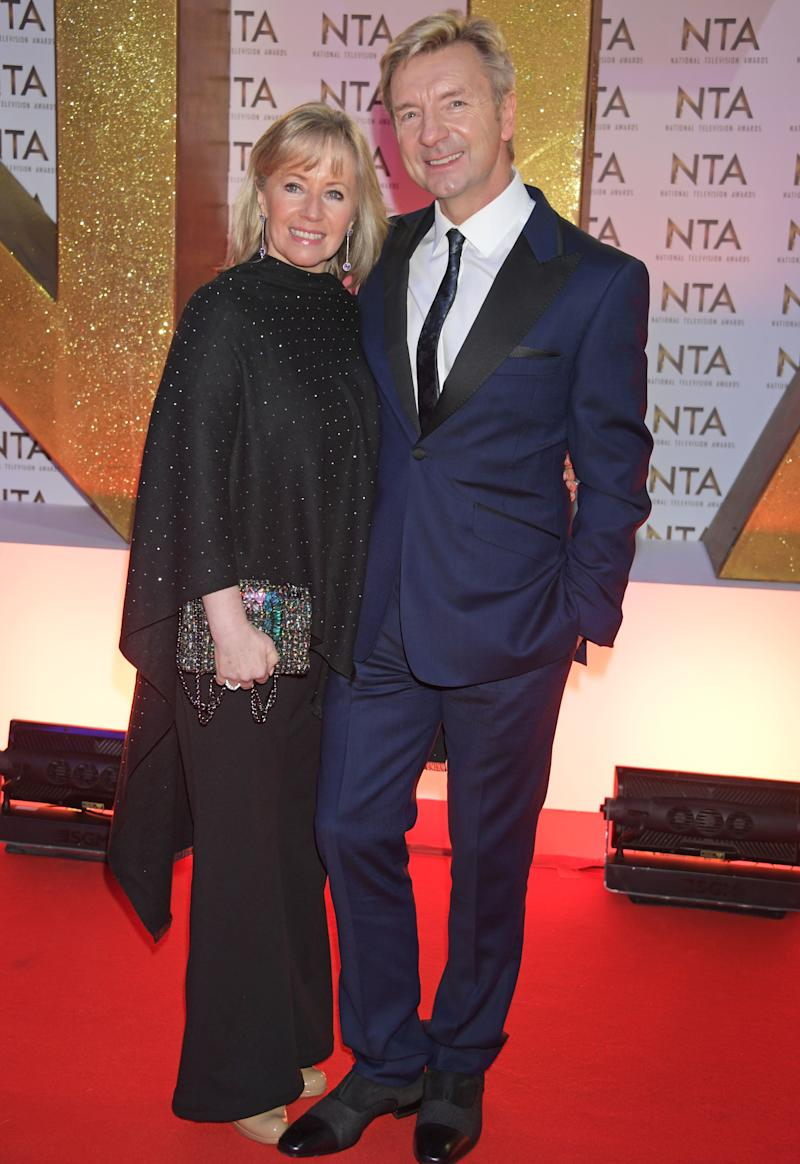 LONDON, ENGLAND - JANUARY 28: Karen Barber and Christopher Dean attend the National Television Awards 2020 at The O2 Arena on January 28, 2020 in London, England. (Photo by David M. Benett/Dave Benett/Getty Images)