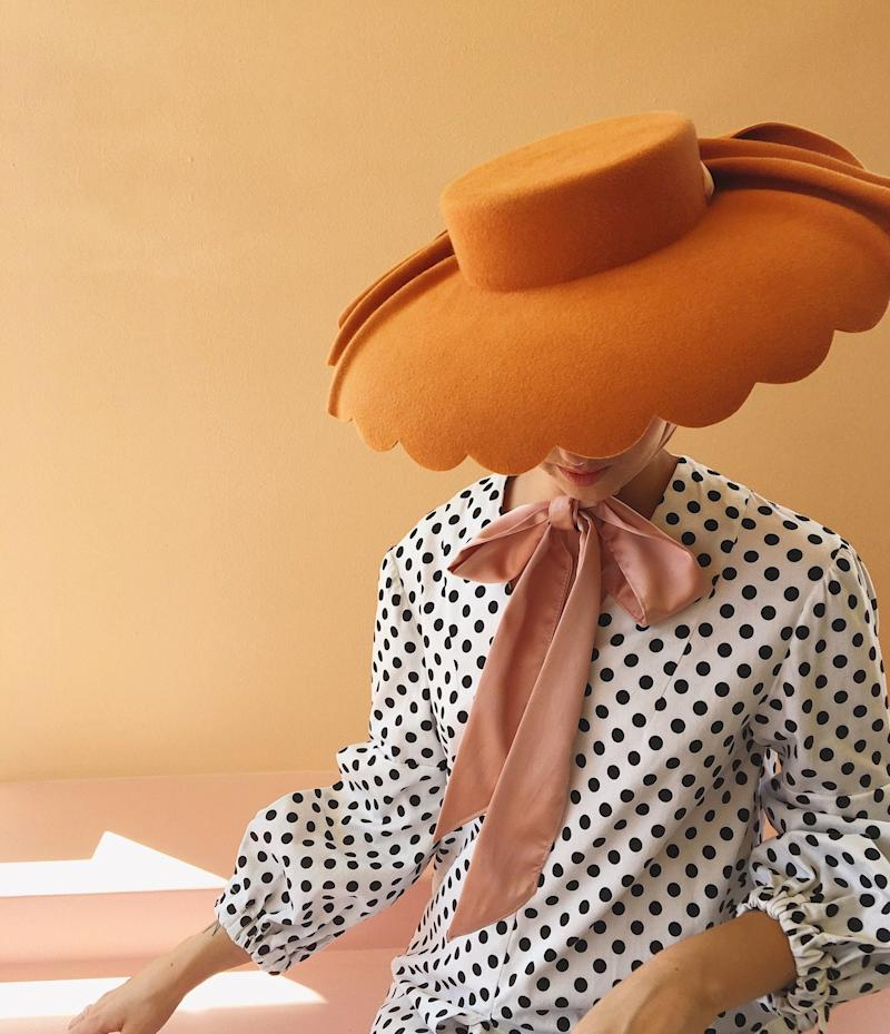 Scalloped Derby Hat