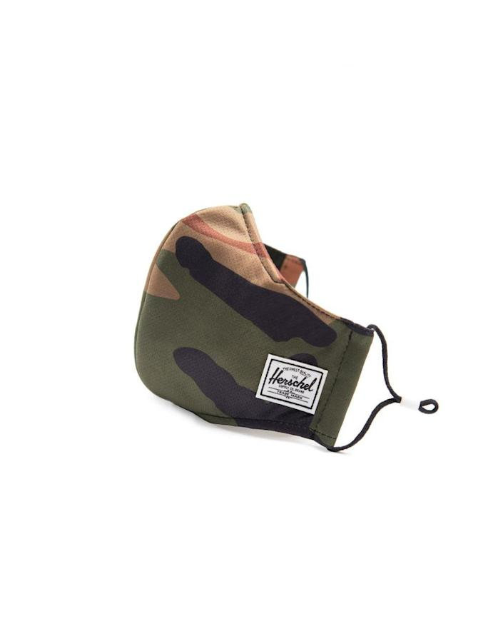 """<h2>Herschel Classic Fitted Face Mask</h2><br>The Classic face mask from Herschel comes in a variety of different prints for every personal style. Beyond that, it's made with three protective layers with a soft liner and a center sleeve for added air filters. <br><br><strong><em><a href=""""https://fave.co/3nf8VfV"""" rel=""""nofollow noopener"""" target=""""_blank"""" data-ylk=""""slk:Shop Herschel"""" class=""""link rapid-noclick-resp"""">Shop Herschel</a></em></strong> <br><br><strong>Herschel</strong> Classic Fitted Face Mask, $, available at <a href=""""https://amzn.to/3eKdeP0"""" rel=""""nofollow noopener"""" target=""""_blank"""" data-ylk=""""slk:Amazon"""" class=""""link rapid-noclick-resp"""">Amazon</a>"""