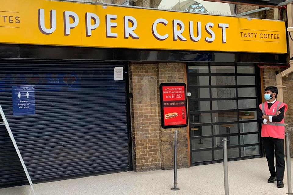 Upper Crust owner SSP has seen an improvement in business since the lockdown restrictions eased. (Aaron Chown / PA) (PA Archive)