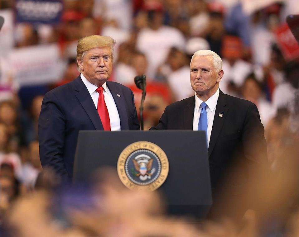 <p>Donald Trump y Mike Pence</p> (Getty)