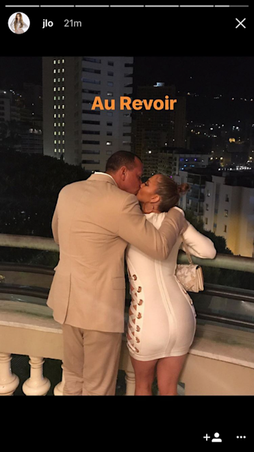 A-Rod and JLo in France together. (Screenshot via @JLo on Instagram)