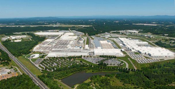 PHOTO: An aerial view of the BMW Spartanburg plant from 2018. The facility is more than 7 million square feet and employs 11,000 workers. (BMW)