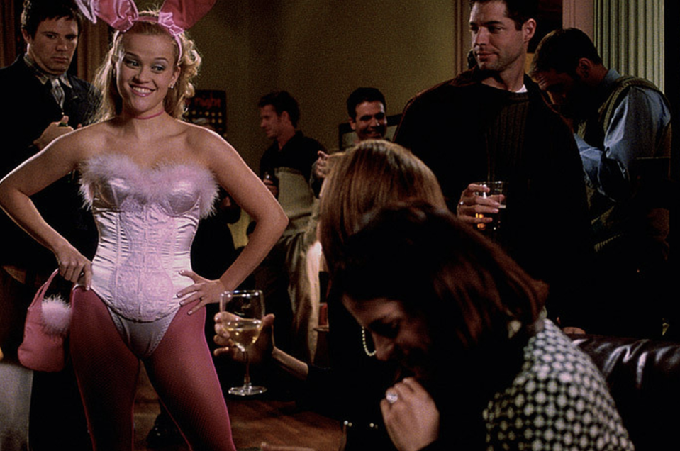 """<p>You're not just going as a Bunny, you're going as Elle Woods <em>as</em> a Bunny. The '00s mini bag and pink tights will keep your costume true to the film. </p><p><strong>What you'll need: </strong><em>Overbust Bustier Top, $17, Chicastic</em></p><p><a class=""""link rapid-noclick-resp"""" href=""""https://www.amazon.com/Chicastic-Strong-Overbust-Bustier-Bodyshaper/dp/B013F6YHBI/ref=sr_1_13?keywords=elle+woods+costume&qid=1565625276&s=gateway&sr=8-13&tag=syn-yahoo-20&ascsubtag=%5Bartid%7C10065.g.28677600%5Bsrc%7Cyahoo-us"""" rel=""""nofollow noopener"""" target=""""_blank"""" data-ylk=""""slk:SHOP NOW"""">SHOP NOW</a><br></p>"""