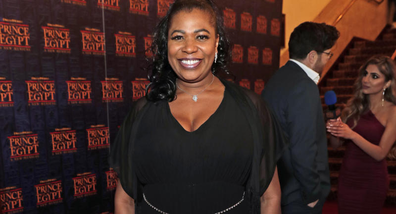 "Brenda Edwards attends the gala night performance of ""The Prince of Egypt"" at the Dominion Theatre on February 25, 2020 in London, England. (Photo by David M. Benett/Dave Benett/Getty Images for The Prince of Egypt)"