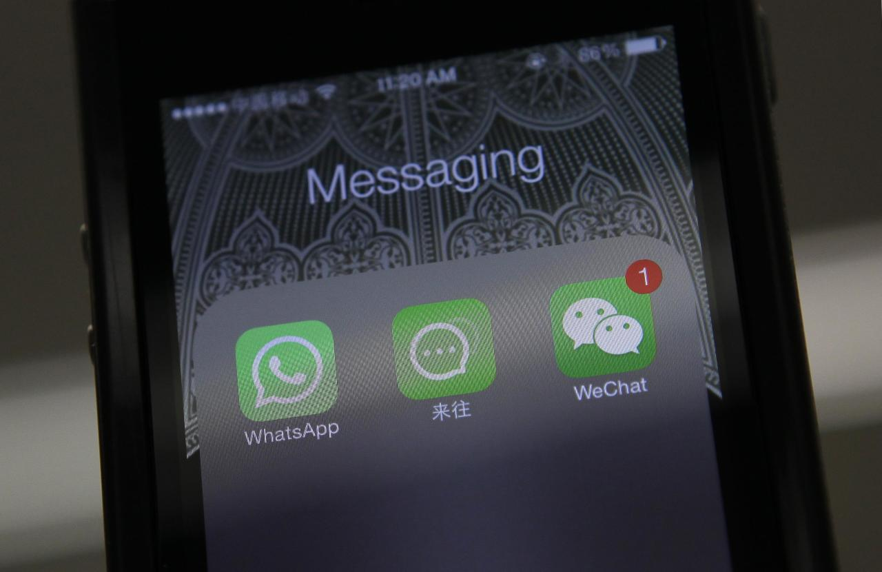 <p>No. 10 (tie): WhatsApp<br />11 per cent say they can't live without it.<br />(Reuters) </p>