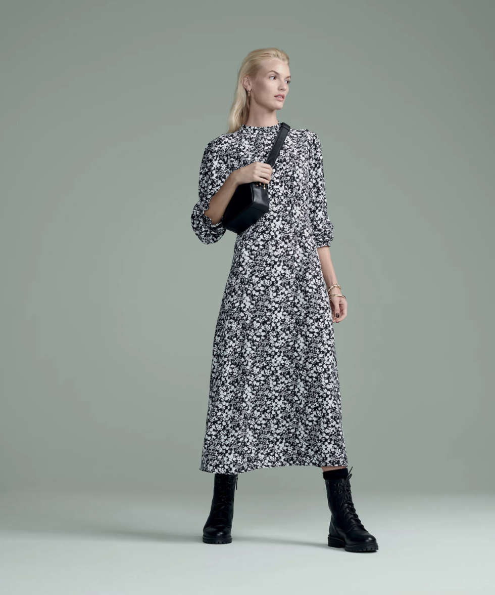The dress comes in three different prints. (Marks & Spencer)