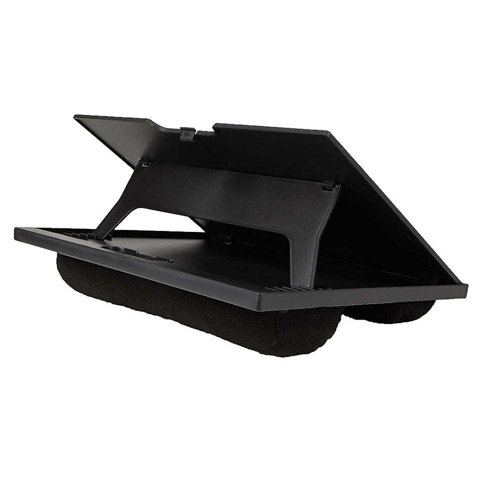This lap desk is adjustable to eight different angles. (Photo: Amazon)