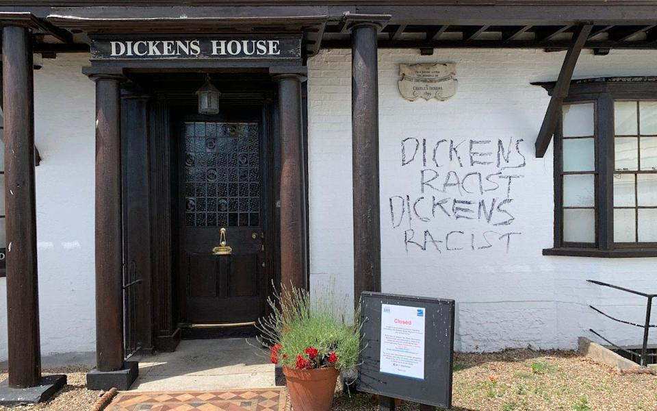 A museum dedicated to Charles Dickens has been daubed with graffiti dubbing the author a racist - Ian Scammell/Triangle News