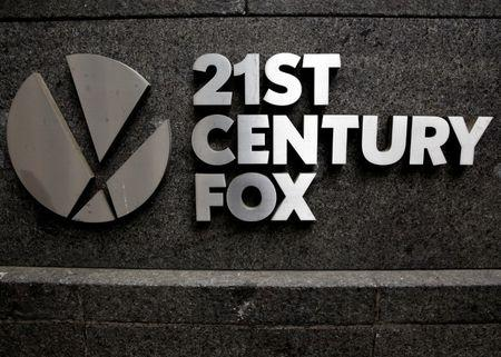 FILE PHOTO -  The 21st Century Fox  logo is seen outside the News Corporation headquarters in New York