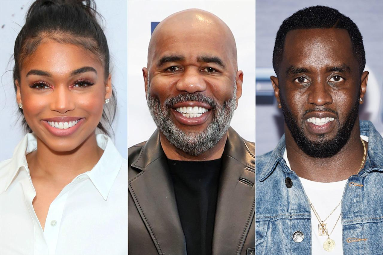 Lori Harvey Vacations in Italy with Dad Steve Harvey and Rumored Boyfriend  Diddy