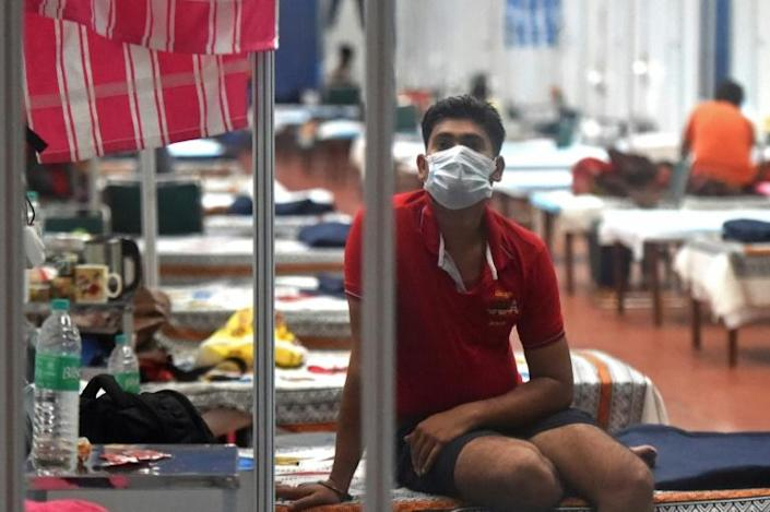 The Commonwealth Games Village sports complex in New Delhi has been temporarily converted into a COVID-19 coronavirus care centre (AFP Photo/Money SHARMA)