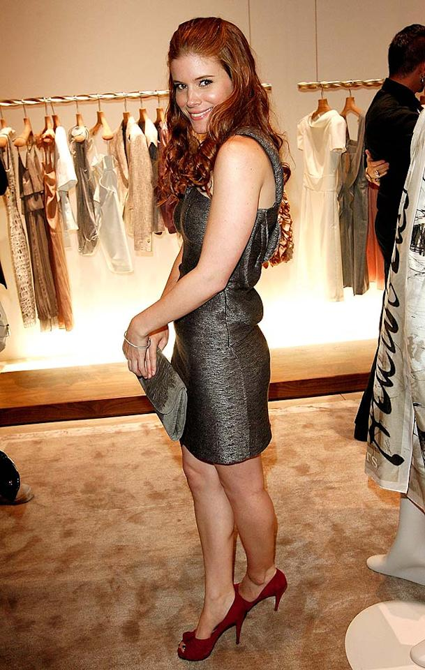 """Kate Mara (""""We Are Marshall"""") pairs her ruby red pumps with a cute, shimmering cocktail dress. Donato Sardella/<a href=""""http://www.wireimage.com"""" target=""""new"""">WireImage.com</a> - April 9, 2008"""