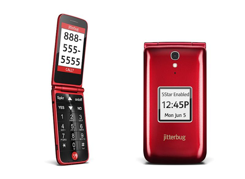 GreatCall Jitterbug Easy-to-Use Cell Phone for Seniors. (Photo: Walmart)