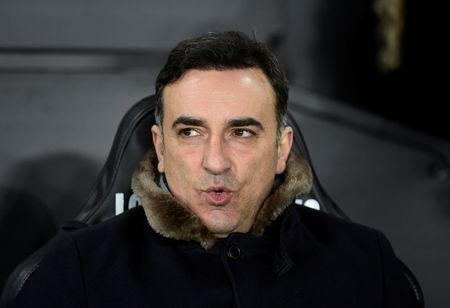 FILE PHOTO - Soccer Football - FA Cup Fifth Round Replay - Swansea City vs Sheffield Wednesday - Liberty Stadium, Swansea, Britain - February 27, 2018 Swansea City manager Carlos Carvalhal REUTERS/Rebecca Naden