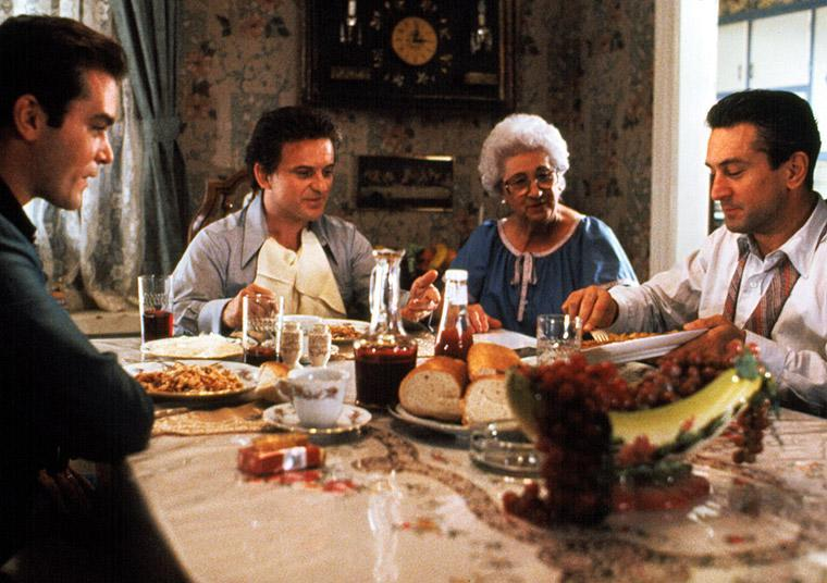 Martin Scorsese's real mother played Tommy's mum for the famous dinner scene (Credit: Warner Bros)
