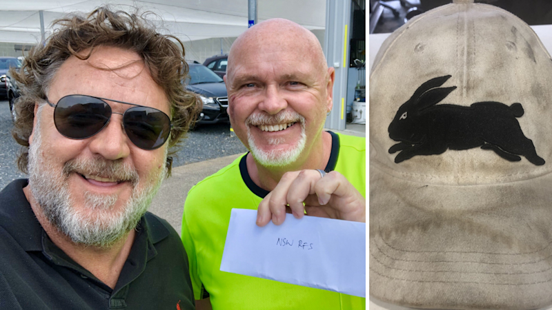 Russell Crowe has inspired six-figure donations to the NSW RFS. (Source: Twitter/@russellcrowe)