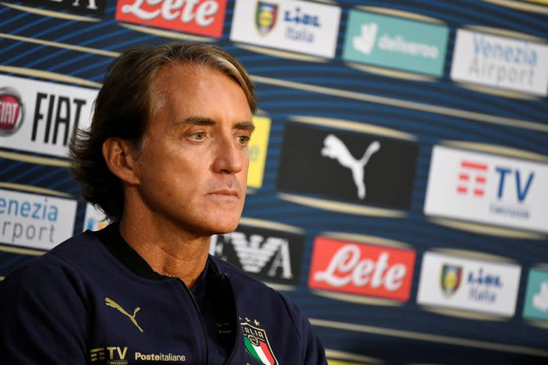 Italy coach Mancini will rotate team to reduce injury risk