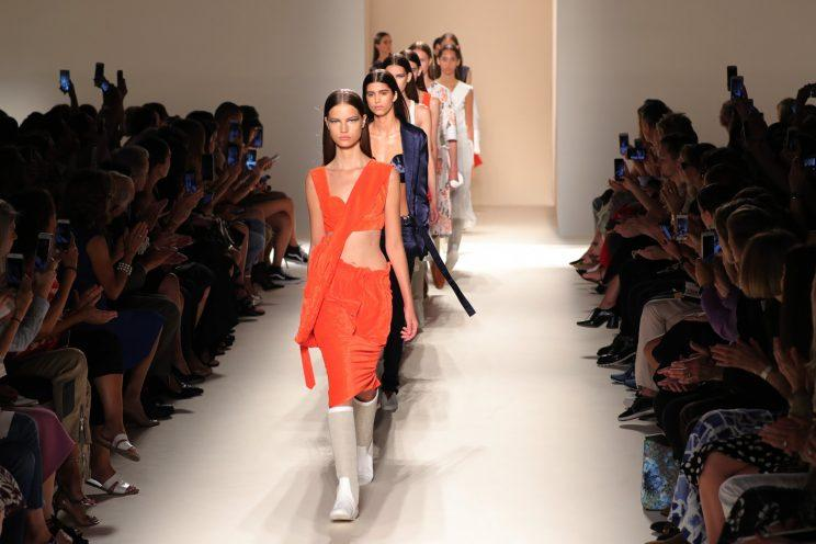 Victoria Beckham's SS17 show was condemned for using overly thin models [Photo: Getty]