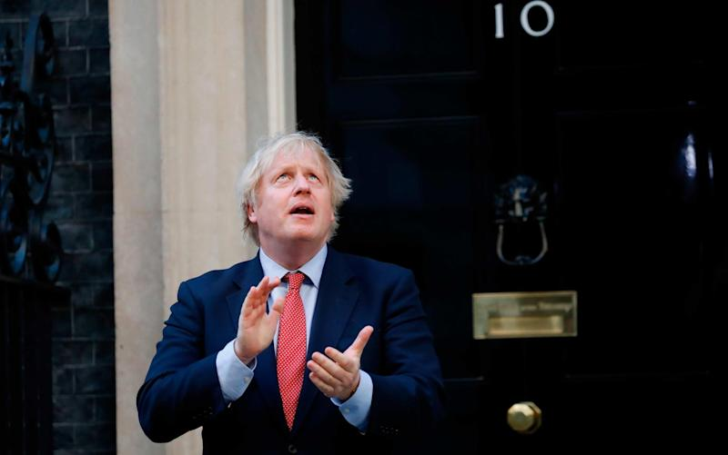 Boris Johnson would not be out of place on the set of The Thick of It - AFP