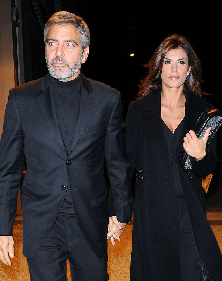 """According to <i>In Touch</i>, """"George Clooney has fallen out of love with Elisabetta Canalis,"""" and after two years of dating, """"They're taking a break."""" The mag notes that even though she's """"one of the most beautiful women on the planet,"""" Clooney's """"commitmentphobia"""" was a cause of the """"split."""" For what was the final straw for Clooney and how he's moving on, check out what his own rep admits to <a href=""""http://www.gossipcop.com/george-clooney-elisabetta-canalis-split-breakup-2011/"""" target=""""new"""">Gossip Cop</a>. Ron Asadorian/<a href=""""http://www.splashnewsonline.com"""" target=""""new"""">Splash News</a> - January 30, 2010"""