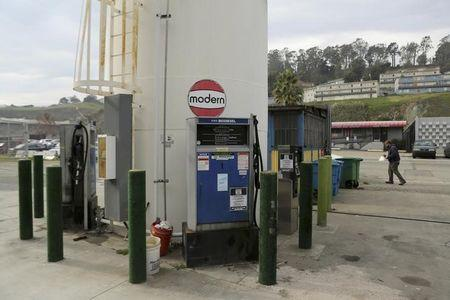 A biodiesel filling station is seen at Dogpatch Biofuels in San Francisco