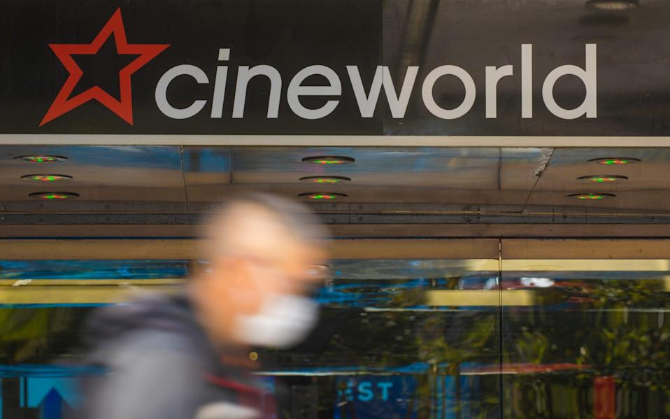 Cineworld's cinemas have been closed for most of the past 14 months during the pandemic - Jason Alden/Bloomberg