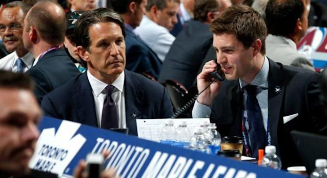 "Kyle Dubas, who is reportedly being courted by the <a class=""link rapid-noclick-resp"" href=""/nhl/teams/col/"" data-ylk=""slk:Colorado Avalanche"">Colorado Avalanche</a>, was Brendan Shanahan's first hire with the Toronto Maple Leafs in 2014."