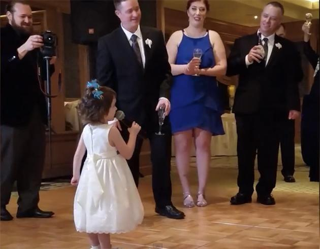 This little girl gave the cutest wedding speech. Photo: America's Funniest Home Videos