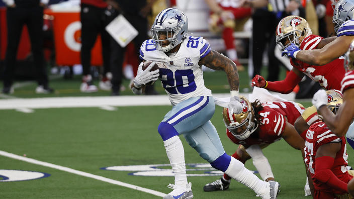 Tony Pollard could be a difference-maker in the final week of the fantasy football season. (Photo by Tom Pennington/Getty Images)