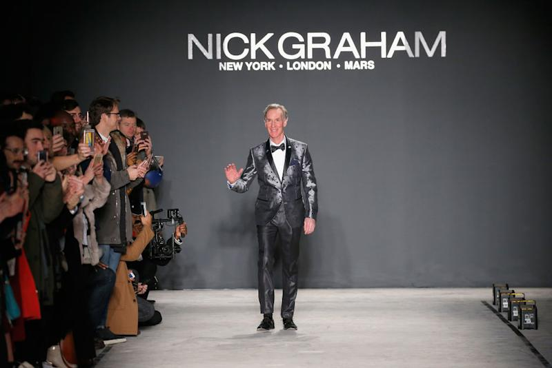 Bill Nye (you know, the science guy!) walked the runway in this New York fashion show