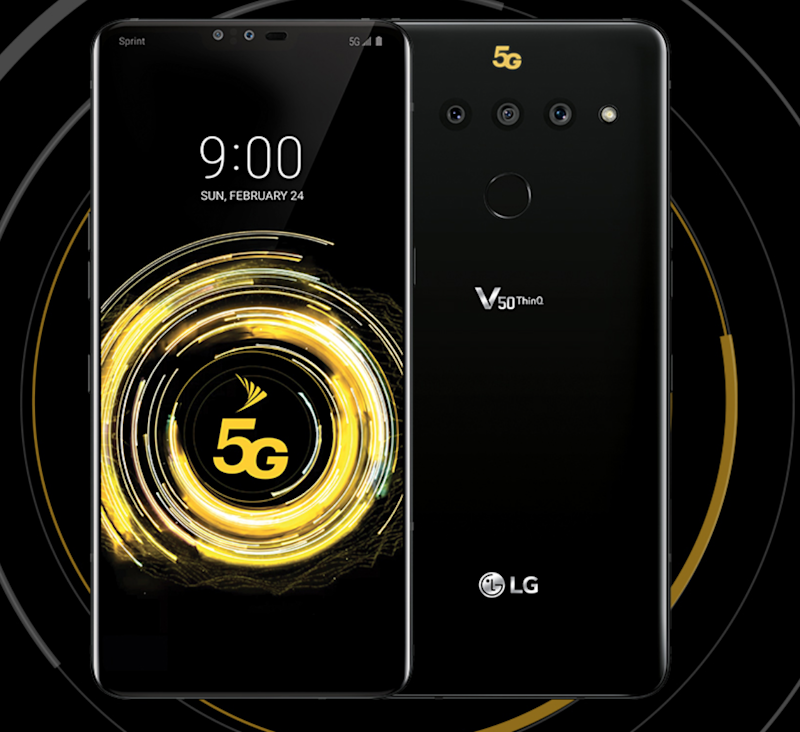 LG's V50 ThinQ 5G for Sprint.