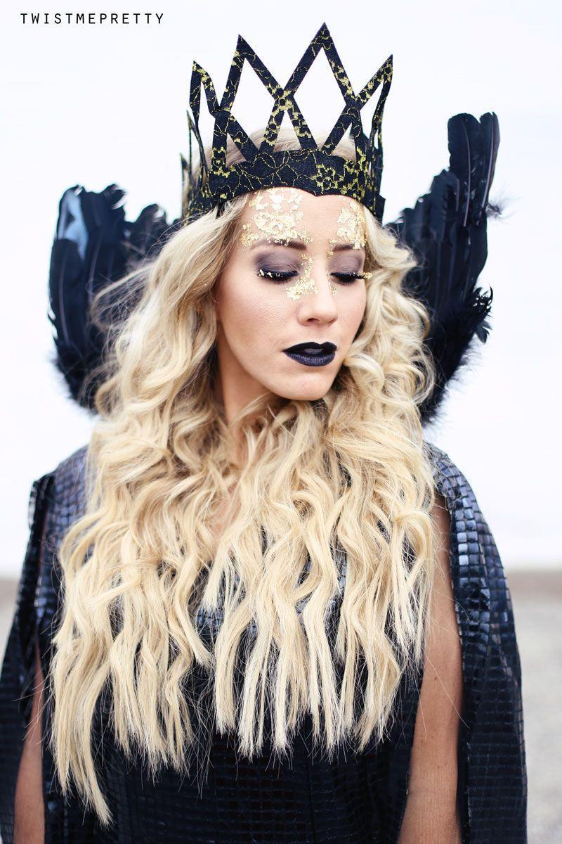 """<p>We're not sure what we dig more in this gorgeous getup inspired by the Evil Queen in <em>The Huntsman: Winter's War—</em>the gold foil makeup or those dramatic curls.</p><p><strong>Get the tutorial at <a href=""""https://www.twistmepretty.com/evil-queen-makeup-hair-tutorial-queen-ravenna/"""" rel=""""nofollow noopener"""" target=""""_blank"""" data-ylk=""""slk:Twist Me Pretty"""" class=""""link rapid-noclick-resp"""">Twist Me Pretty</a>.</strong></p><p><a class=""""link rapid-noclick-resp"""" href=""""https://www.amazon.com/U-S-Art-Supply-Metallic-Schabin/dp/B08Q4HW1Z4/ref=sr_1_49_sspa?tag=syn-yahoo-20&ascsubtag=%5Bartid%7C10050.g.36674692%5Bsrc%7Cyahoo-us"""" rel=""""nofollow noopener"""" target=""""_blank"""" data-ylk=""""slk:SHOP GOLD FLAKES"""">SHOP GOLD FLAKES</a></p>"""