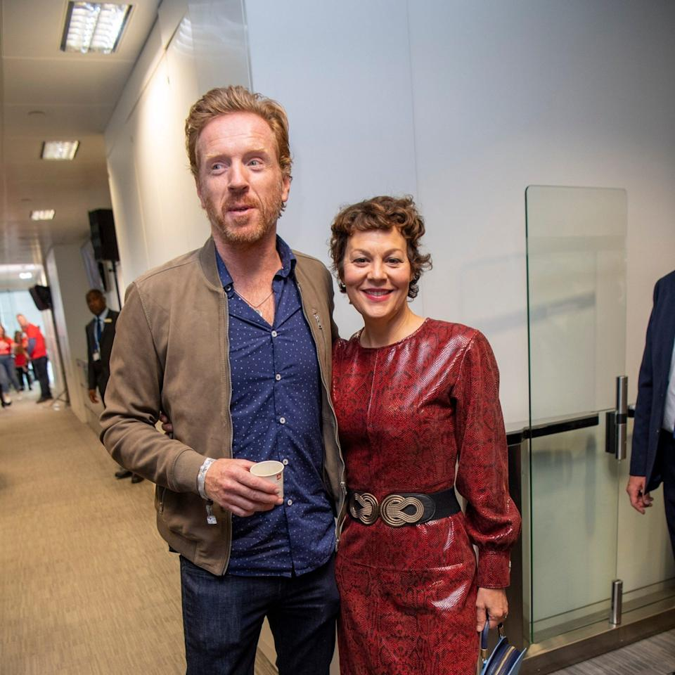 An acting household: Lewis and wife Helen McCrory - Paul Grover
