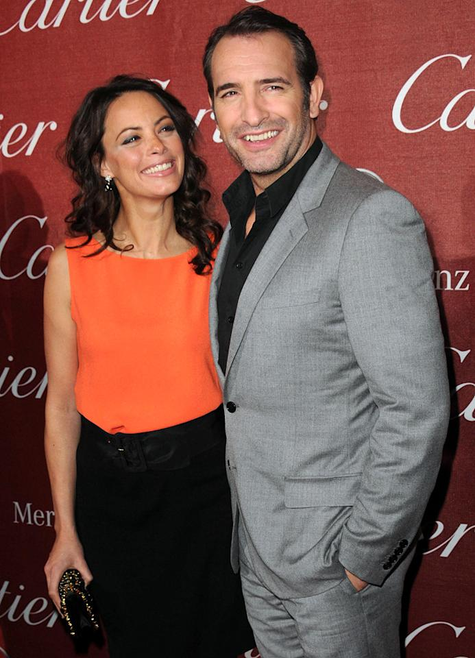 Berenice Bejo and Jean Dugardin attend the 23rd Annual Palm Springs Film Festival awards gala on January 7,2012.