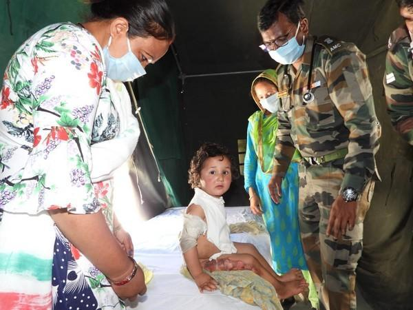 The camp facilitated medical and veterinary OPD for the villagers and their livestock. (Photo/ANI)