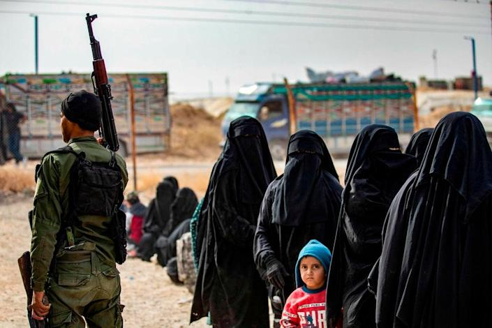 The al-Hol camp holds 65,000 people, including families (AFP/Getty)