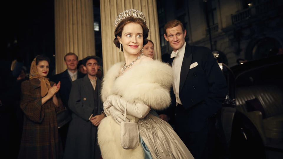 Claire Foy and Matt Smith in The Crown (Credit: Netflix)
