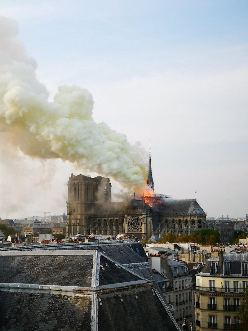 A fire has broken out at Notre-Dame Cathedral, in Paris. (NBC)