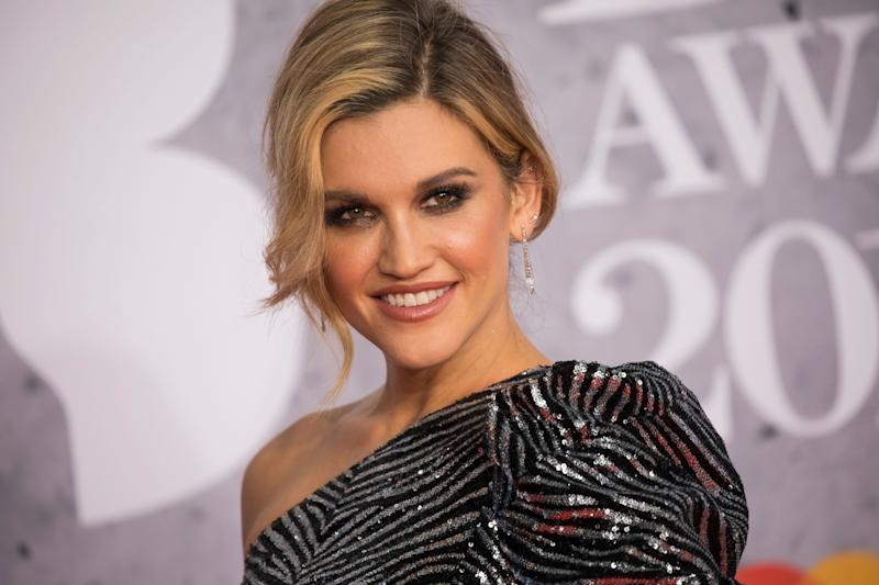 Ashley Roberts poses for photographers upon arrival at the Brit Awards in London, Wednesday, Feb. 20, 2019. (Photo by Vianney Le Caer/Invision/AP)