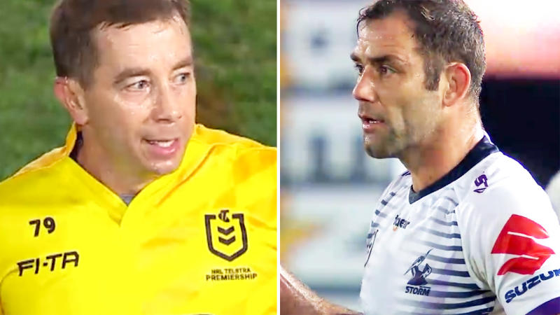 Cameron Smith, pictured here giving Ben Cummins a piece of his mind.