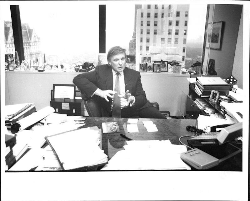 Donald Trump in his office in August 1994.