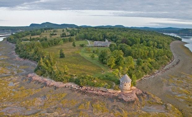Ministers Island comprises 500 acres in Saint Andrews and is reached by a road that stretches along the ocean floor.  (Submitted by Ministers Island  - image credit)