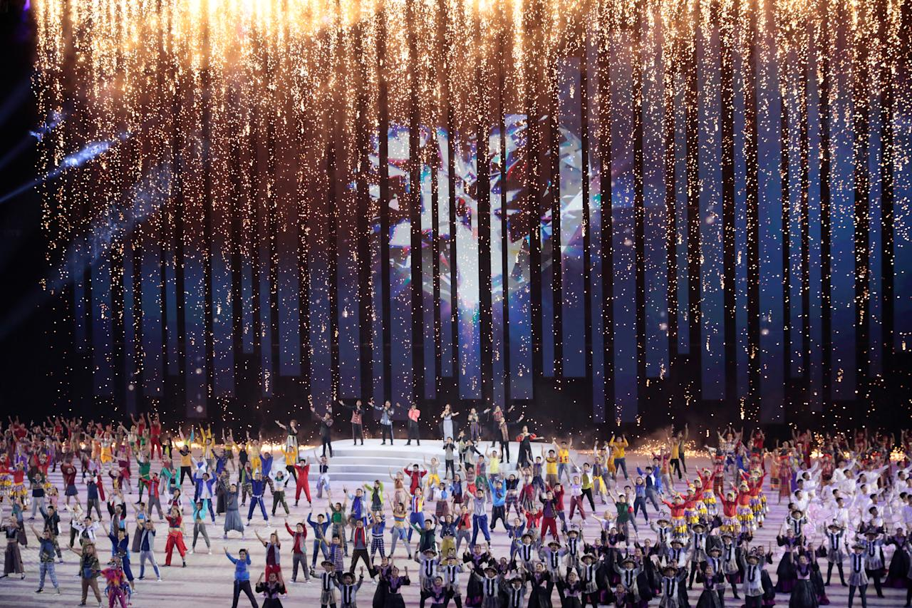 Southeast Asian Games - Opening Ceremony - Philippine Arena, Bocaue, Philippines - November 30, 2019 General view of performers during the opening ceremony REUTERS/Eloisa Lopez