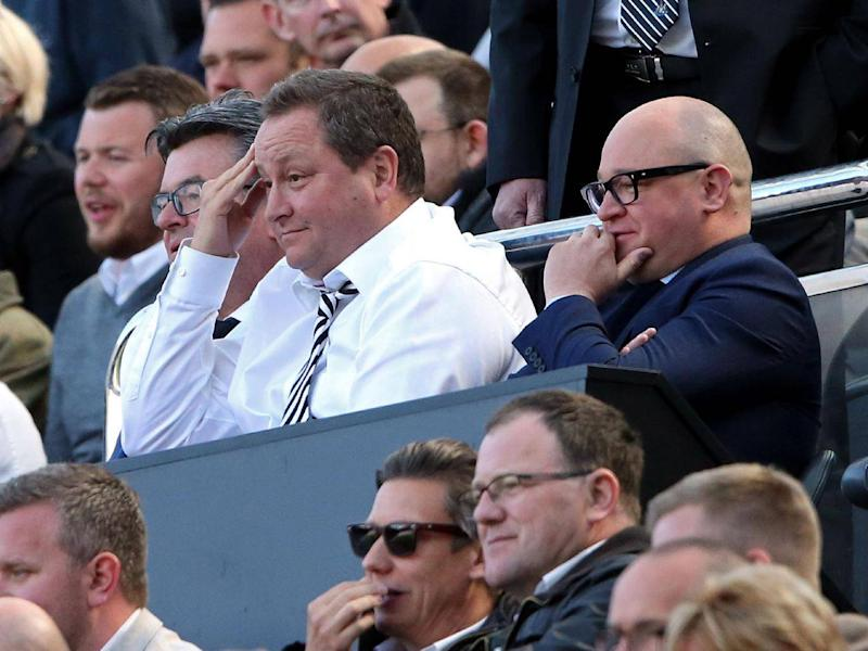 Newcastle managing director, Lee Charnley (right) alongside club owner Mike Ashley (Getty)