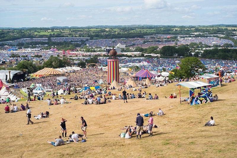 Glastonbury festival has raised £6m for Oxfam since they began a partnership in 1993: Getty Images