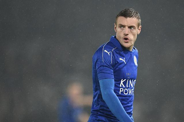 Leicester City's striker Jamie Vardy, pictured in January 2017, says a ban from Twitter is not sufficient for people making death threats against his family (AFP Photo/Oli SCARFF )