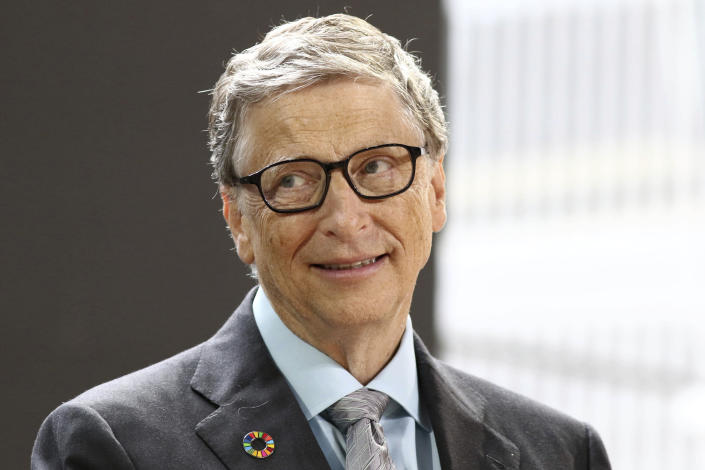 Bill Gates at the Bill and Melinda Gates Foundation's Goalkeepers Conference 2017 at Jazz at Lincoln Center in New York City. (NYC) [Reuters]